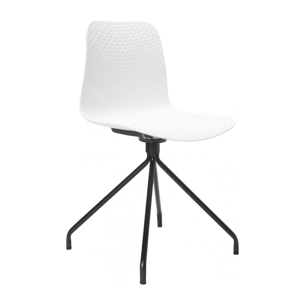White chair in polypropylene and lacquered steel legs n°2