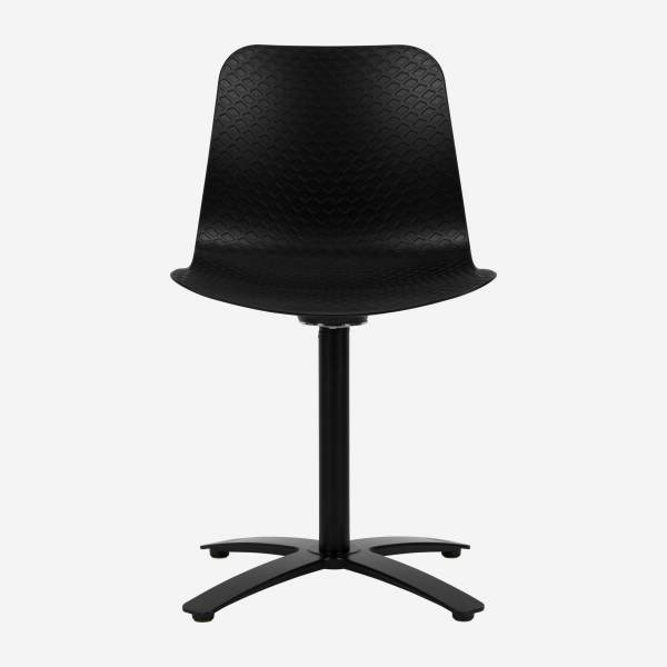 Black office chair in polypropylene