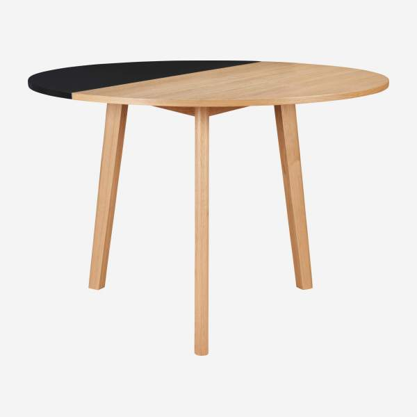 Black oak wood extending table - Design by Goncalo Campos