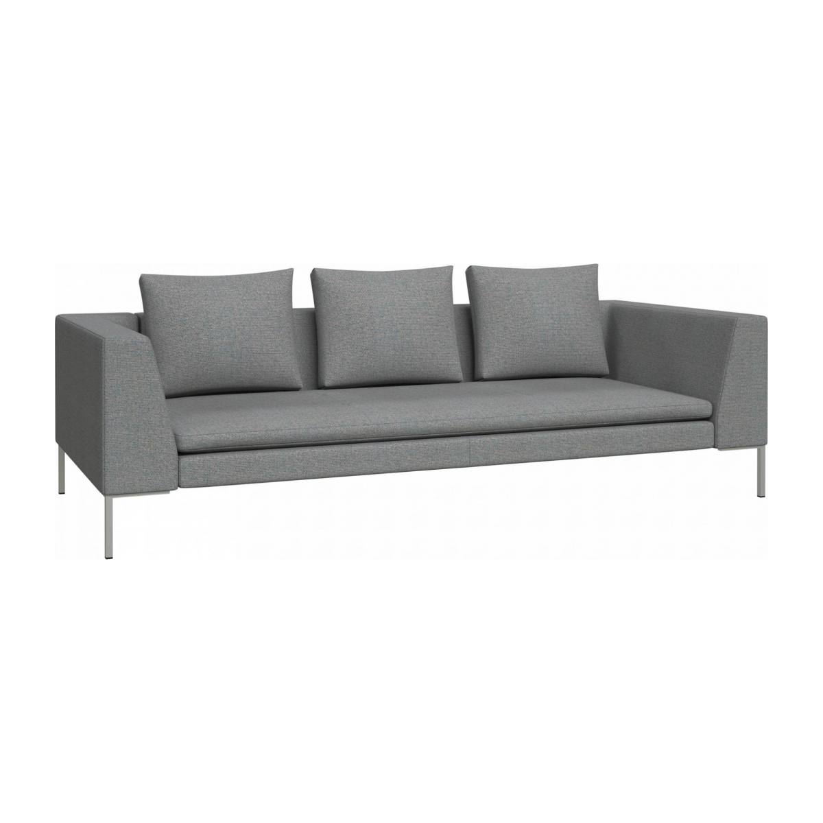 3 seater sofa in Lecce fabric, blue reef n°2