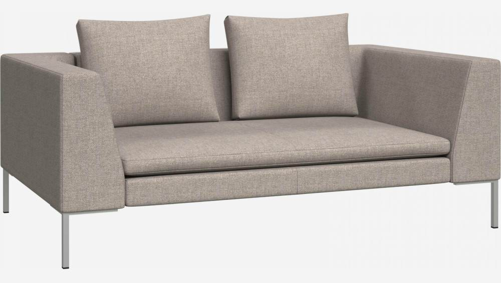 2 seater sofa in Lecce fabric, nature