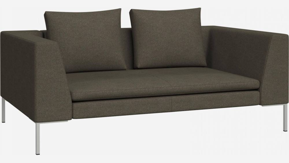 2 seater sofa in Lecce fabric, slade grey