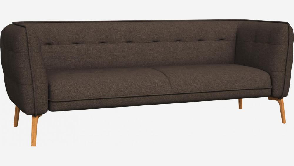 3 seater sofa in Lecce fabric, muscat and natural oak feet