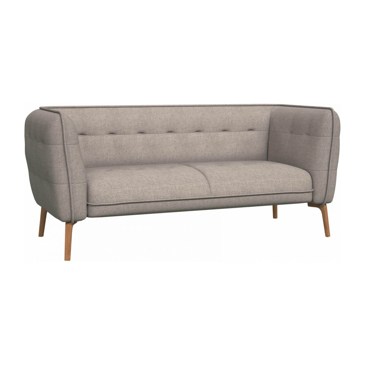 2 seater sofa in Lecce fabric, nature and natural oak feet n°1