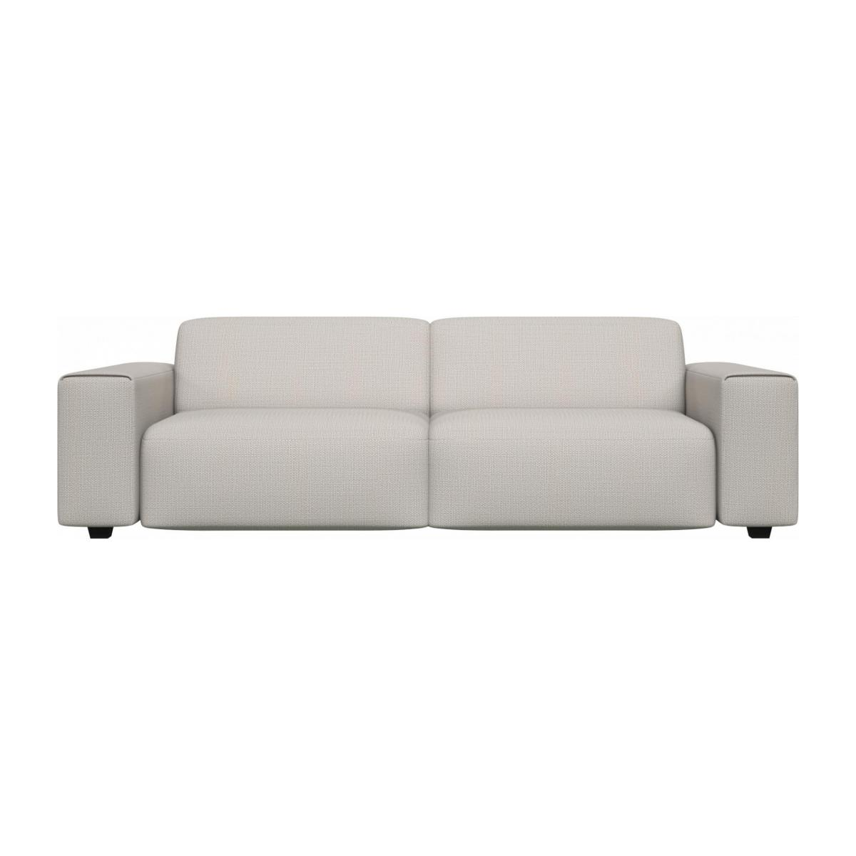 4 seater sofa in Fasoli fabric, snow white n°1