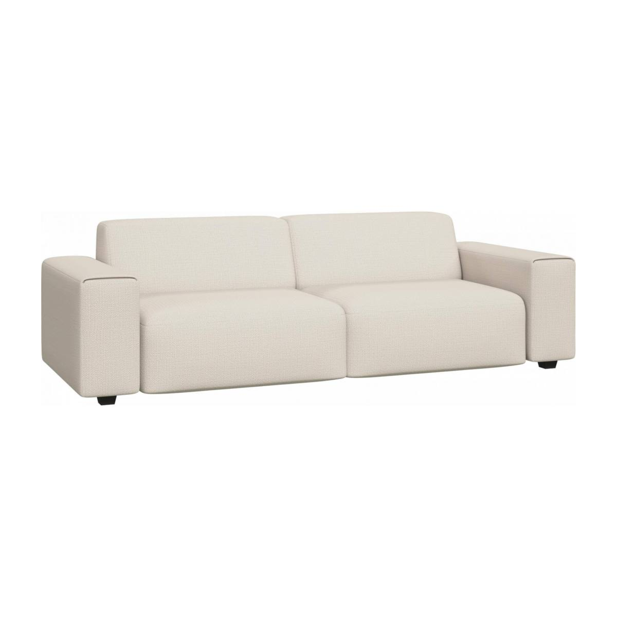 4 seater sofa in Fasoli fabric, snow white n°2