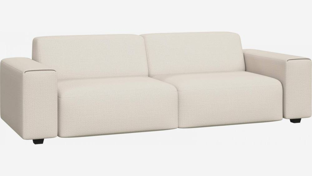 4 seater sofa in Fasoli fabric, snow white