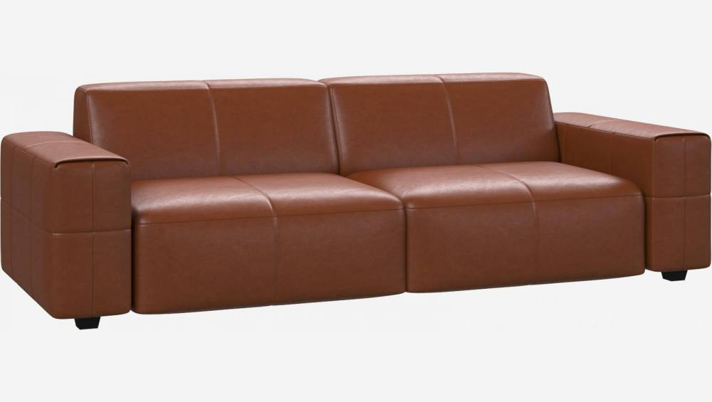 Canapé 4 places en cuir Vintage Leather - Cognac