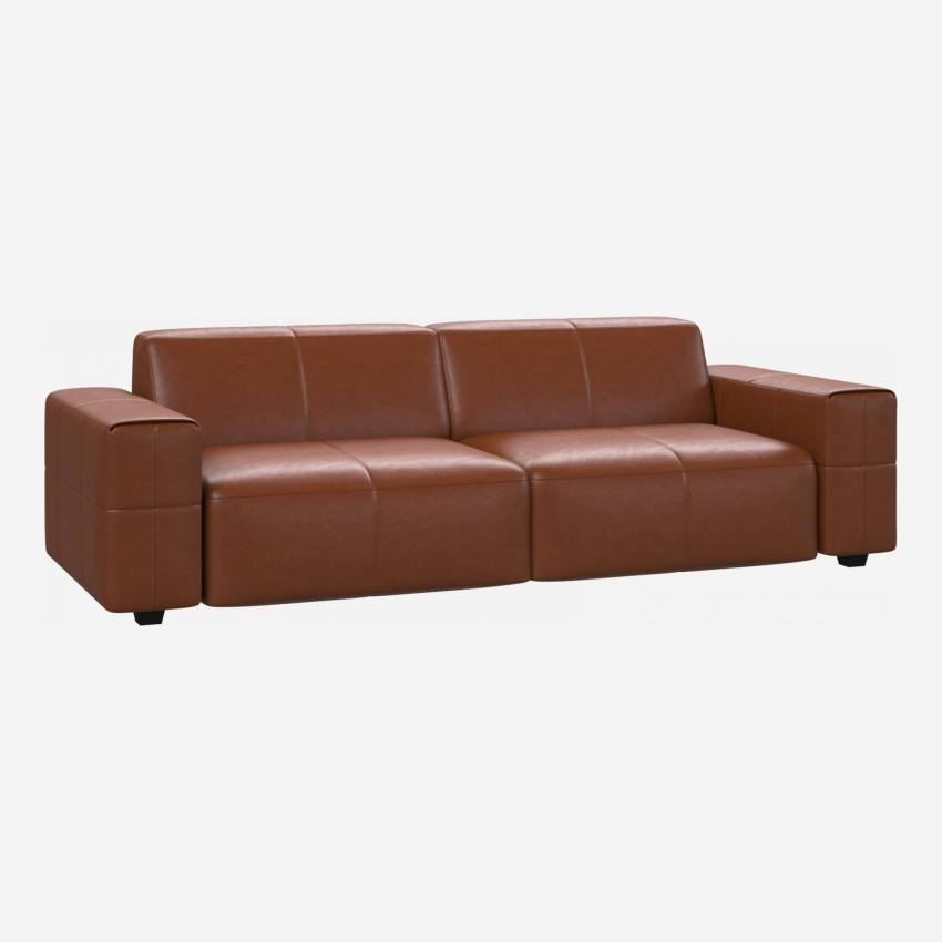 Sofá de 4 plazas en piel anilina Vintage Leather old chestnut