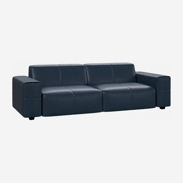 Sofá de 4 plazas en piel anilina Vintage Leather denim blue