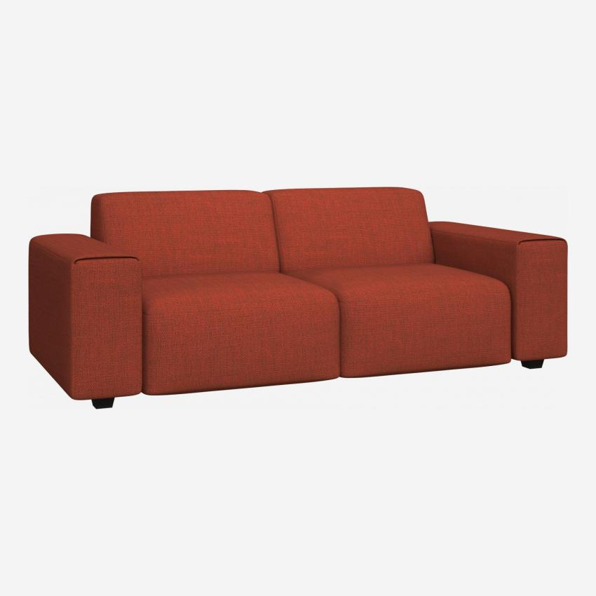 3 seater sofa in Fasoli fabric, warm red rock