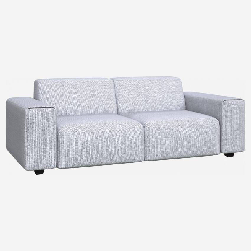 3 seater sofa in Fasoli fabric, grey sky