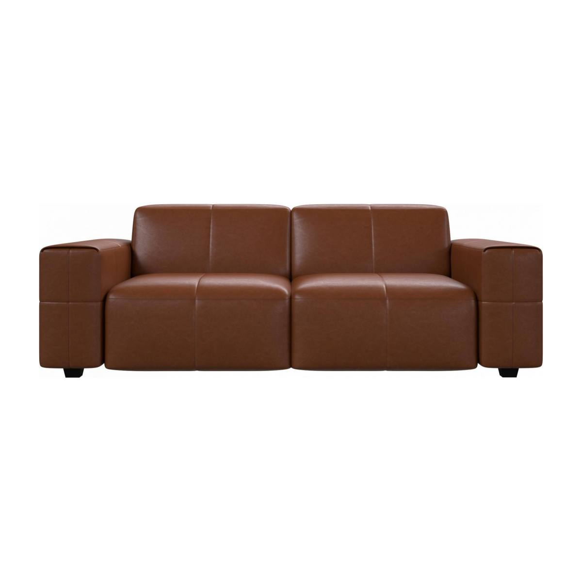 3 seater sofa in Vintage aniline leather, old chestnut n°1