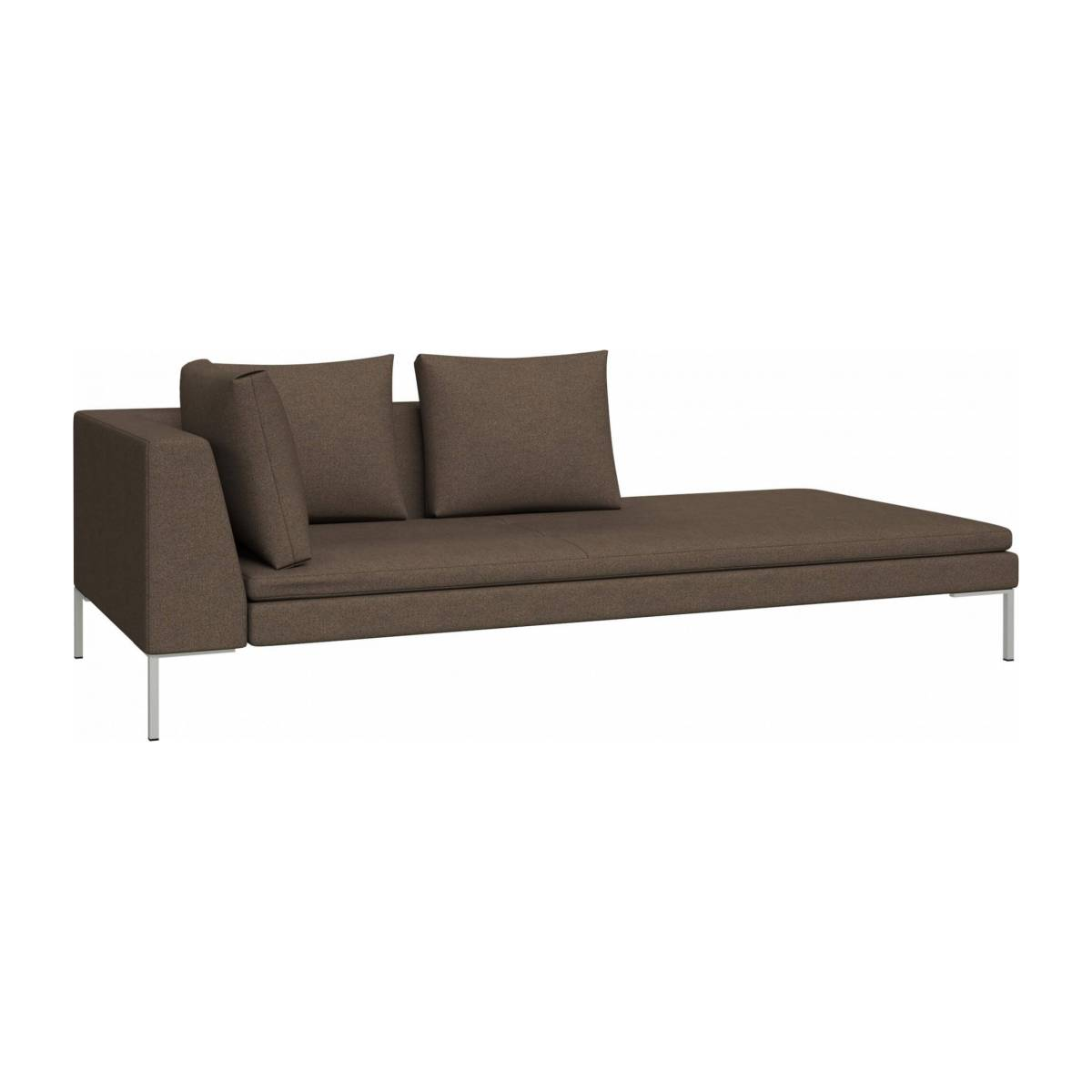Right chaise longue in Lecce fabric, burned orange n°2