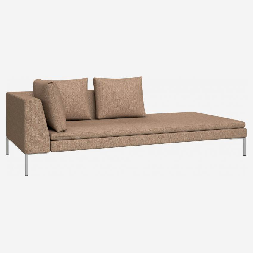 Chaiselongue, rechts aus Bellagio-Stoff - Orange