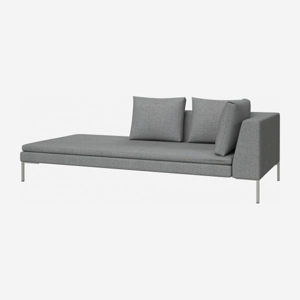 Left chaise longue in Lecce fabric, blue reef