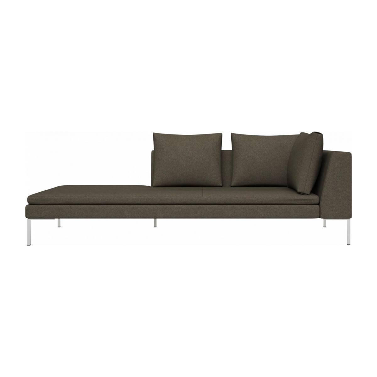 Left chaise longue in Lecce fabric, slade grey n°1