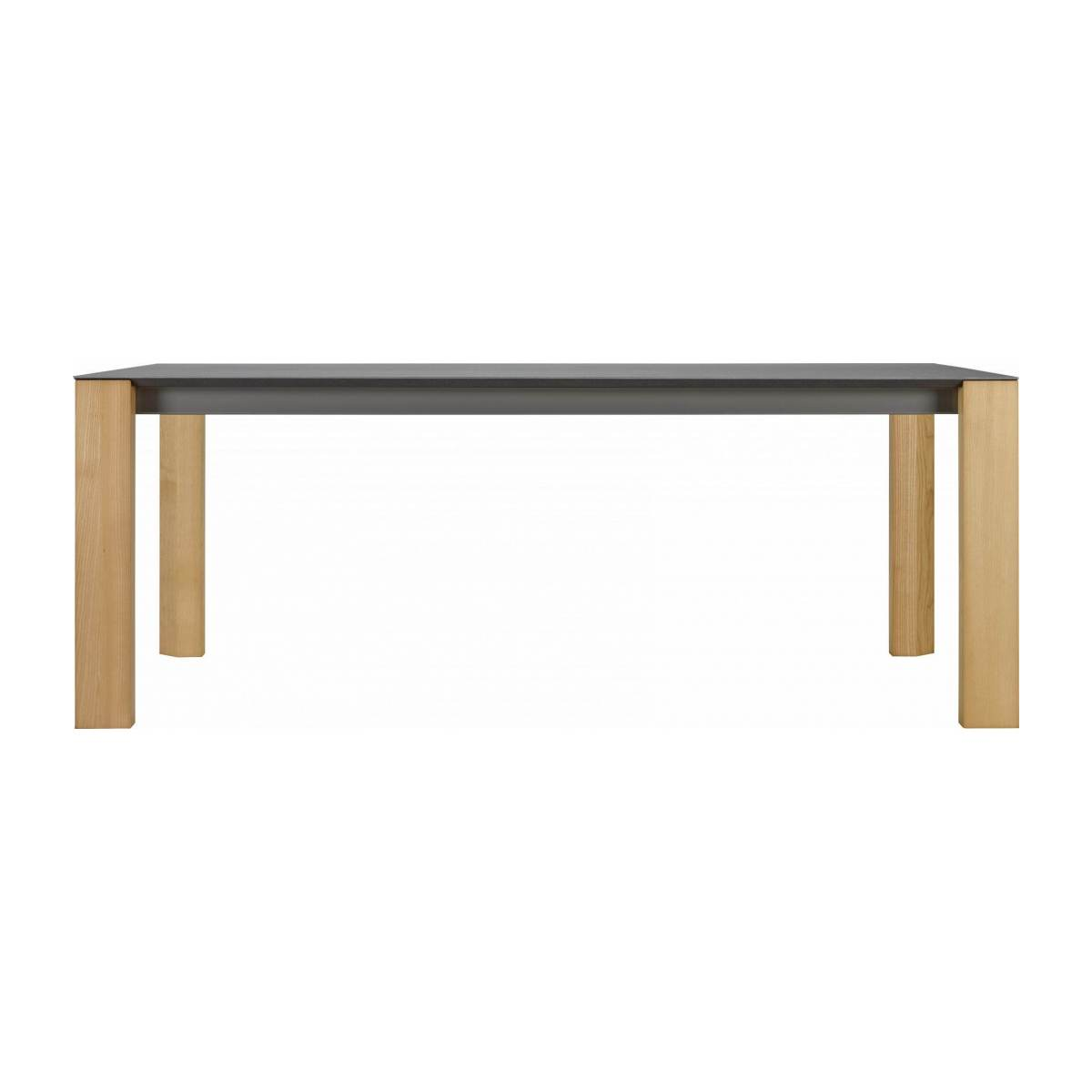 White ceramic dining table 200 cm n°1