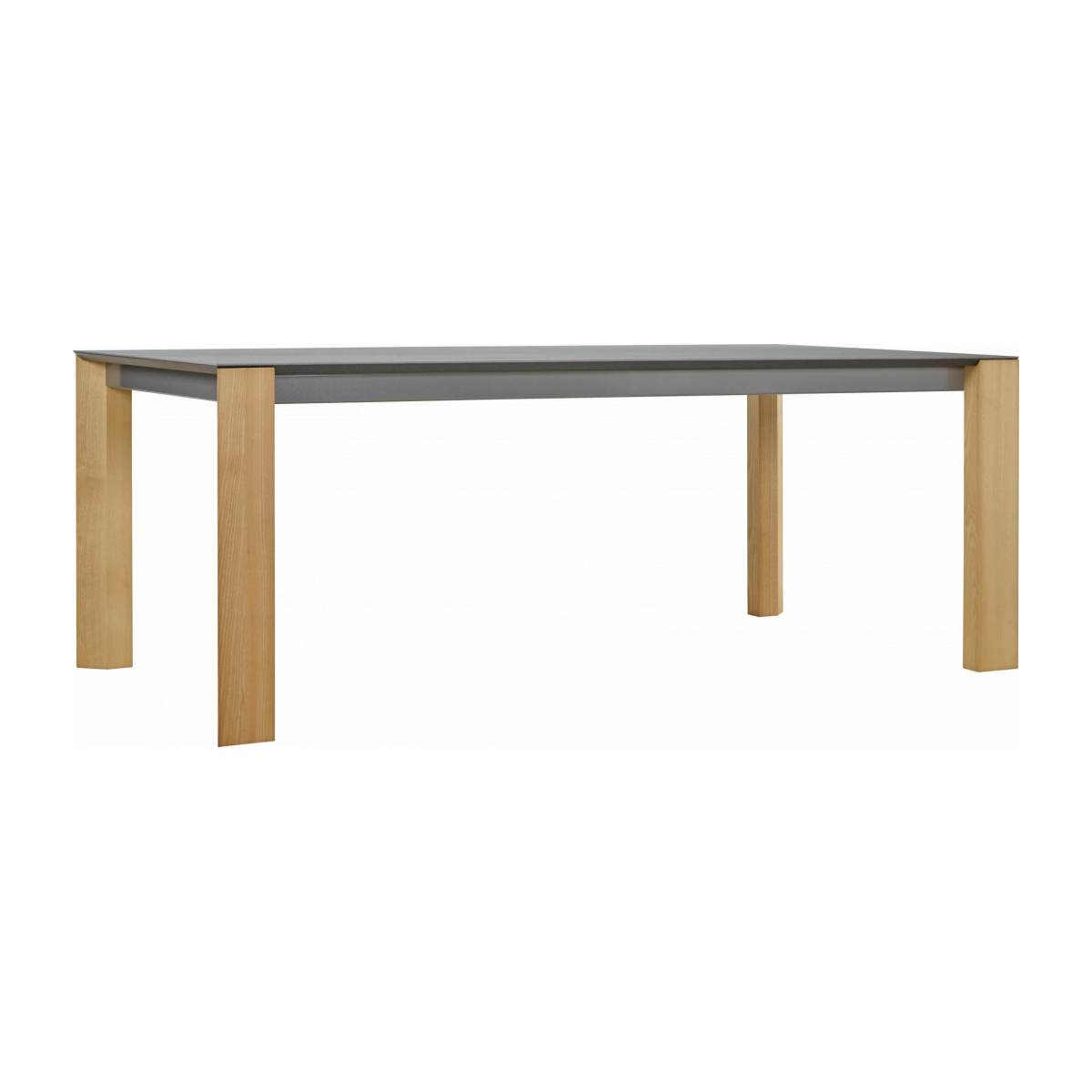 White ceramic dining table 200 cm n°4