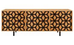 Buffet motif nid d'abeille - Chêne - Design by Habitat Design Studio