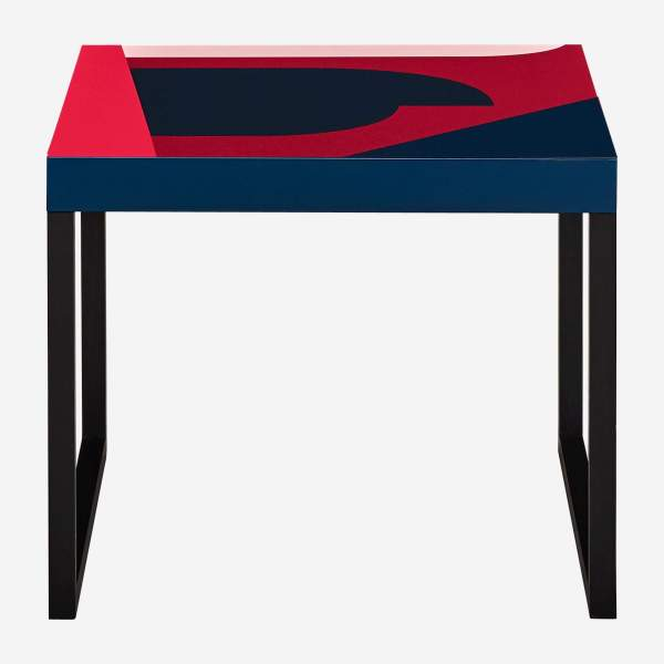 Table d'appoint en métal Chicago - Motif Orea