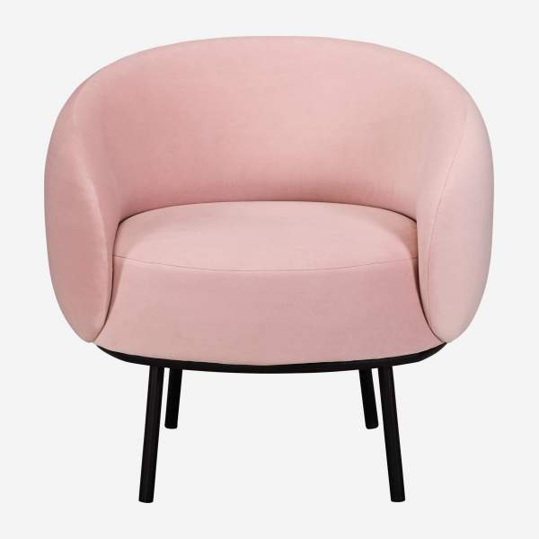 Sessel aus Samt - Rosa - Design by Adrien Carvès