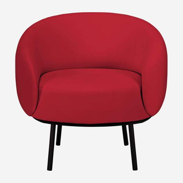 Fauteuil en velours - Rouge - Design by Adrien Carvès