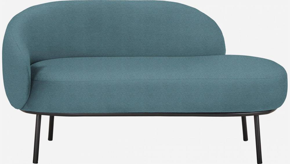 Chaiselongue aus Stoff - Hellblau