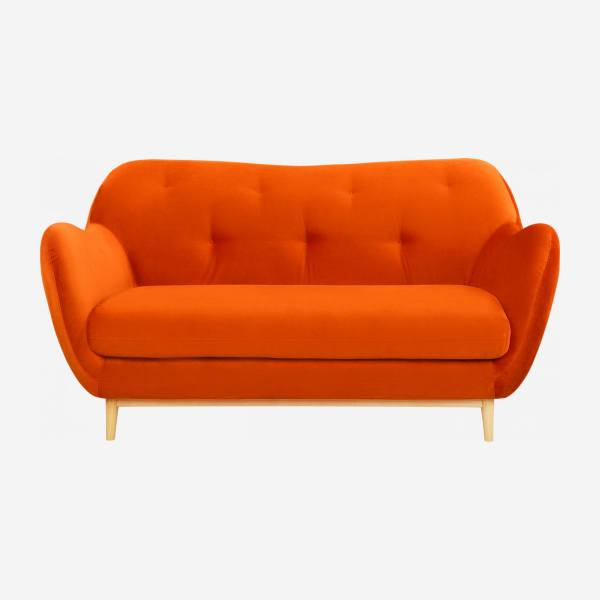 2-Sitzer-Sofa aus Samt - Orange - Design by Adrien Carvès