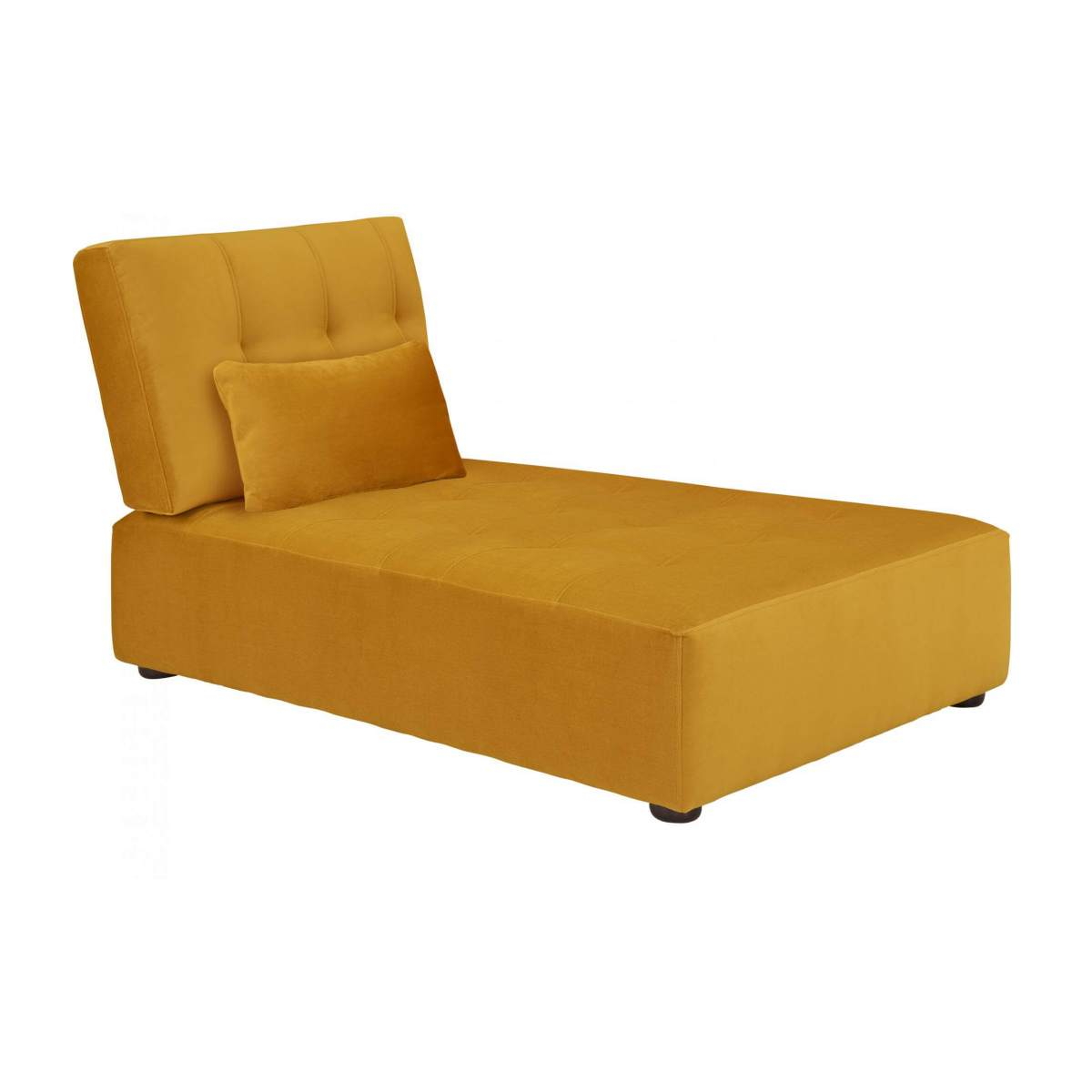 Chaiselongue aus Samt - Senfgelb n°2