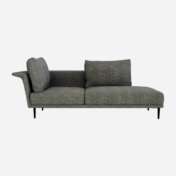 Chaiselongue Derecha de Tela - Gris