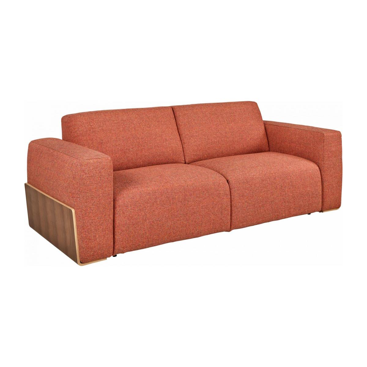 Canapé convertible 3 places en tissu - Orange  n°4