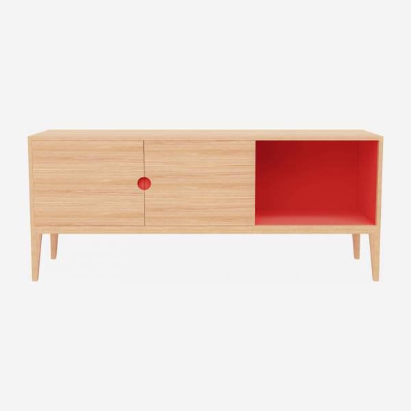 Sideboard aus Eiche - Naturfarben und Orange - Design by Adrien Carvès