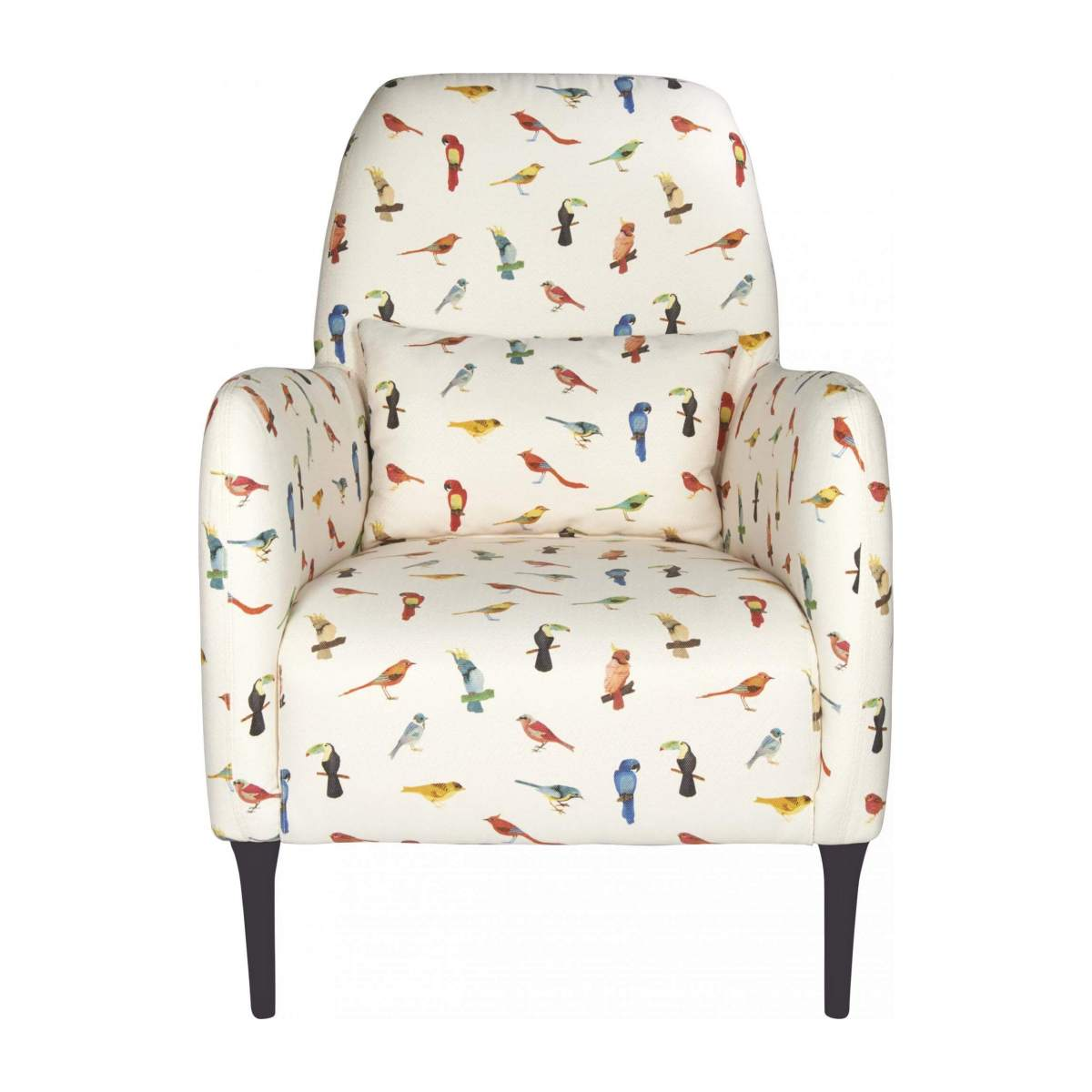 Fabric armchair, birds pattern n°2