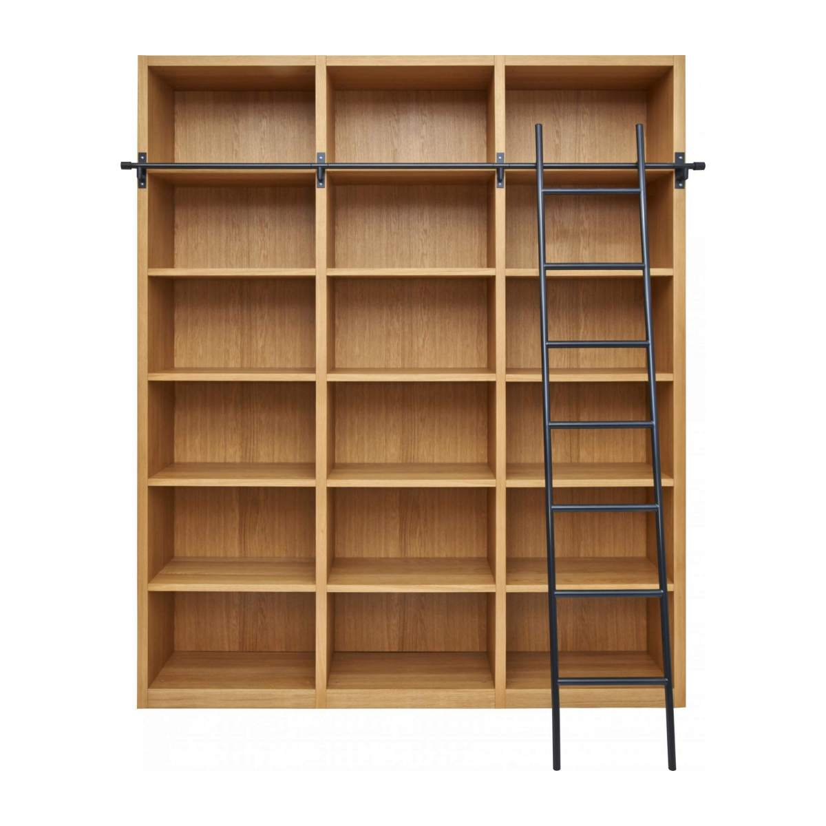 Wooden bookcase with ladder n°1