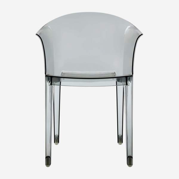Smokey grey armchair in polycarbonate