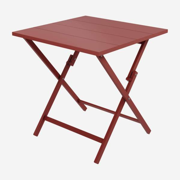 Table pliante en aluminium - Rouge