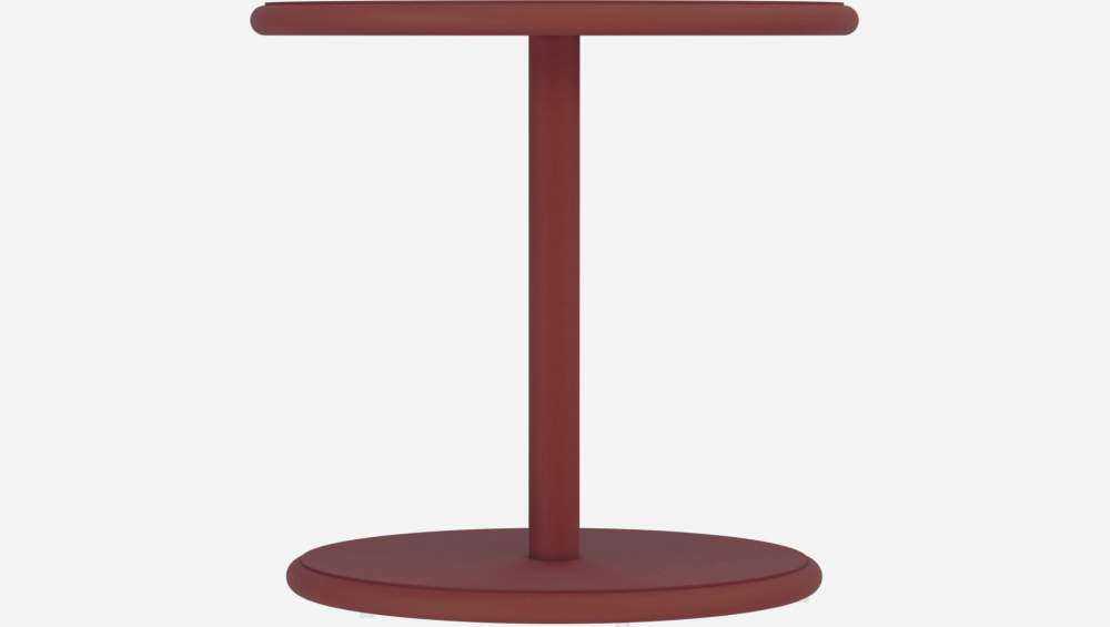 Table d'appoint ronde en aluminium - Rouge