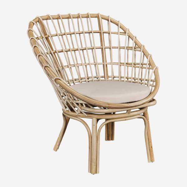 Sessel aus Rattan - Naturfarben - Design by Adrien Carvès