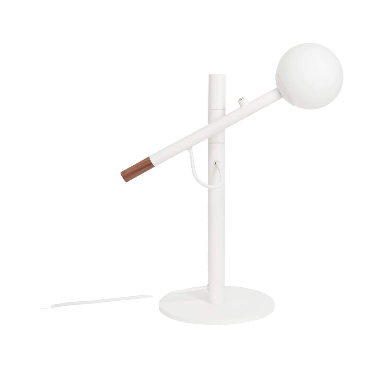 Metal and wood table lamp, white - Design by Gaston Lobet n°3