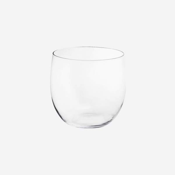 Clear glass planter 27cm