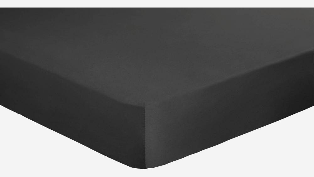 Fitted sheet 140x200cm, grey