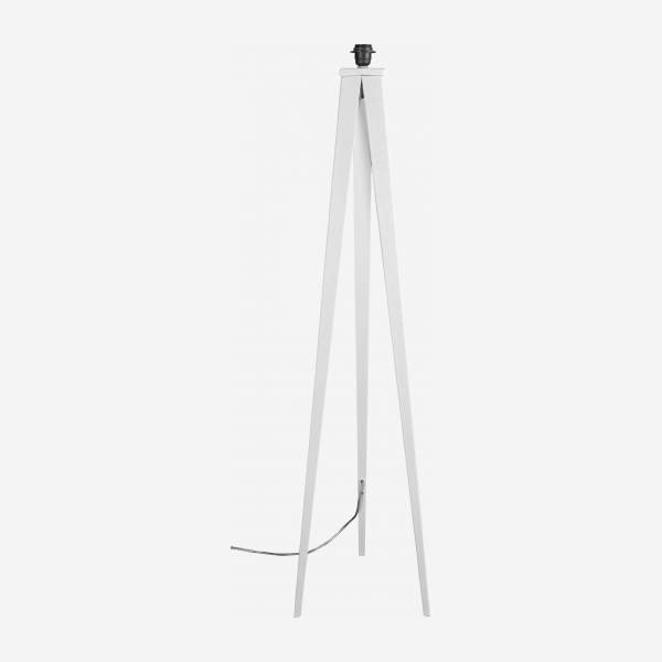 Floor lamp base made of metal, white