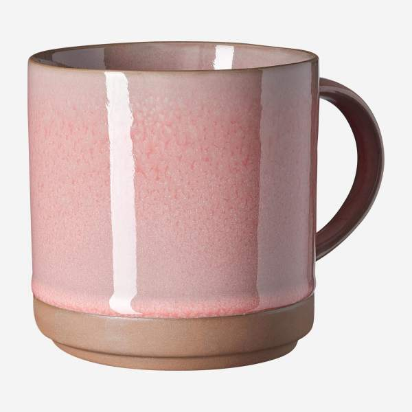 Mug en porcelaine - 425 ml - Rose