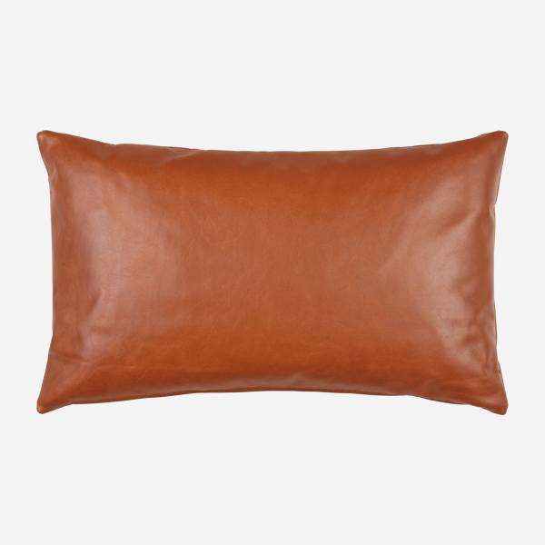 Cushion 30x50 made of aniline leather, brown