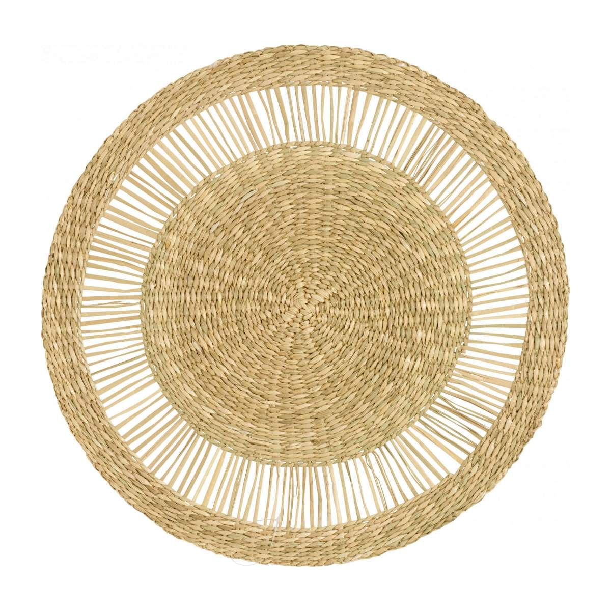 Set de table rond en jonc de mer - Naturel - 40 cm n°1