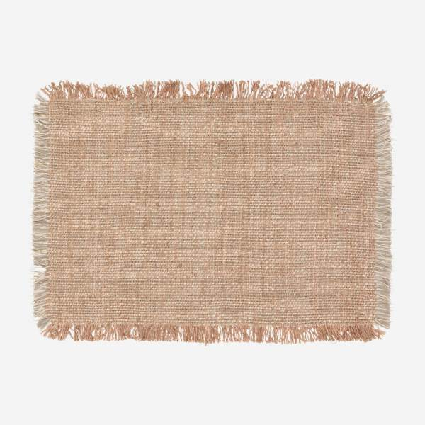 Set de 2 manteles individuales reversibles - 33 x 48 cm - Natural