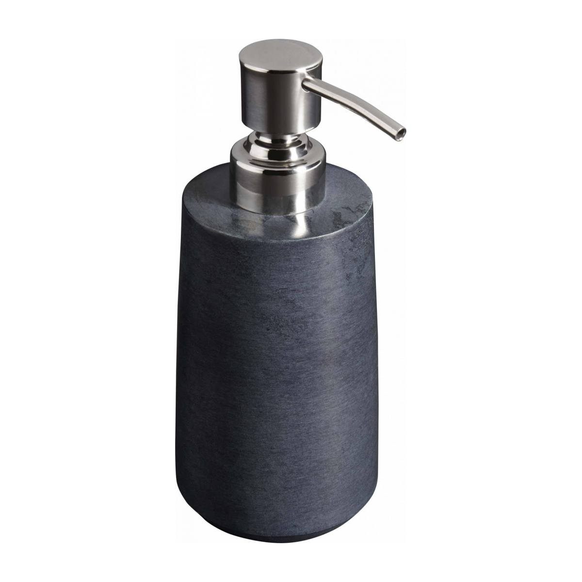 Grey soapstone soap dispenser n°1