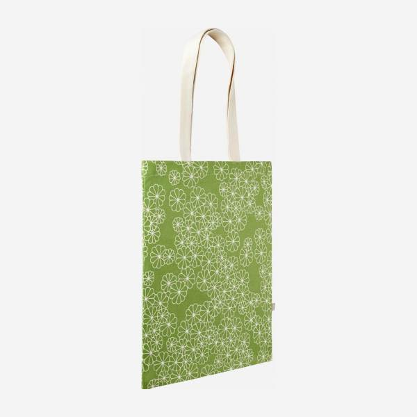 FLOWER/ SHOPPING BAG GREEN