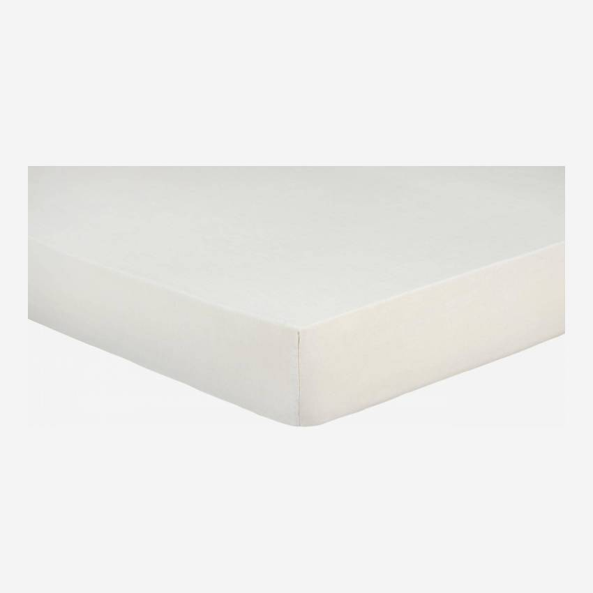 Fitted sheet 180x200 made in flax, beige